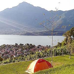 Der Blick vom Campingplatz ist ein Traum.