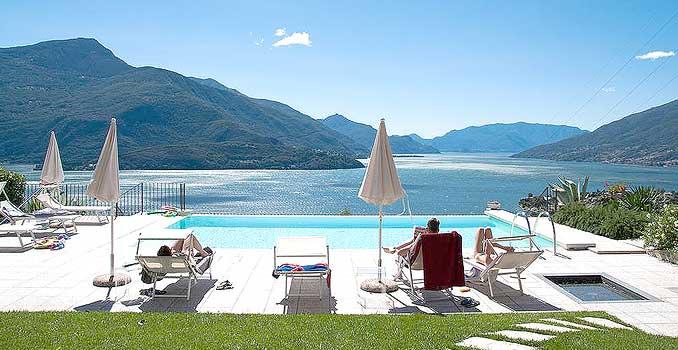 Bild zeigt eine sensationelle Ferienanlage am Comer See